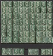 Série PASTEUR LOT DE 71 N° 171  Obl - 1922-26 Pasteur