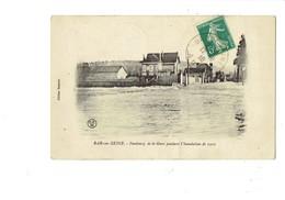 Cpa - 10 - BAR-sur-SEINE - Faubourg De La Gare Pendant L'inondation De 1910 - Edit Saunois - Bar-sur-Seine
