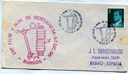 EXPOSICION FILATELICA Y NUM DE IBERDUERO SA BURGOS 1981 FDC - NTVG. - 1931-Hoy: 2ª República - ... Juan Carlos I