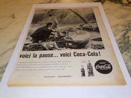 ANCIENNE PUBLICITE VOICI LA PAUSE ET KAYAK  COCA COLA 1960 - Affiches Publicitaires