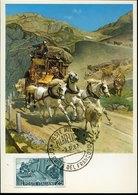 50841 Italia, Maximum 1967, 50th Anniversary  Opening Of The Simplon Tunnel, - Maximum Cards