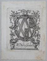 Ex-libris Héraldique Illustré XVIIIème - MRS FITZ GERALD - Ex-libris