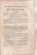 Bulletin Des Lois 1107 De 1844 - Régularisation Des Abords Du Panthéon Et Du Palais De La Chambre Des Pairs - Décrets & Lois