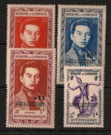 Cambodge - 1952 - N°Yv. 18 à 21 - Série Complète - Neuf * / MH VF - Kambodscha