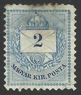 Hungary, 2 K. 1881, Sc # 18b, Mi # 21bA, Used. - Gebraucht