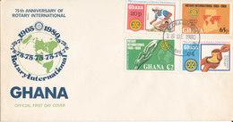 GHANA FDC 1980 ROTARY INTERNATIONAL - Ghana (1957-...)