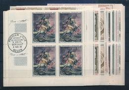 DI-188: FRANCE: Lot Avec 26 Blocs De 4** (tableau Entre 1962 Et 1968)avec Cachet 1er Jour En Marge + Signature Graveur - Ongebruikt