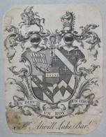 Ex-libris Héraldique Illustré XVIIIème - ATWILL LAKE - Ex-libris