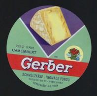 """Etiquette Fromage  Fondu    Camembert 6 Portions  Gerber  Thun  Suisse A Voir!    """" Camembert, Fleur"""" - Cheese"""
