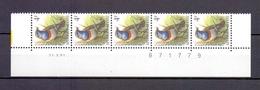 2321 BLAUWBORST DATUMSTRIP 31X91 POSTFRIS** A232 - 1985-.. Birds (Buzin)