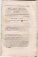 Bulletin Des Lois 1109 De 1844 - Anniversaire Juillet 1830 - Pont Suspendu Sur La Sarthe Le Greffier Près Le Mans Péage - Décrets & Lois