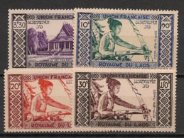 Laos - 1952 - Poste Aérienne PA N°Yv. 1 à 4 - Série Complète - Neuf * / MH VF - Laos