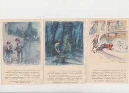 5 Cpa Signées Poulbot( Misérables, Légende Des Siècles)+ Fascicule De La Fondation Victor Hugo Avec Dessin De Poulbot - Poulbot, F.