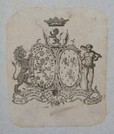 Ex-libris Héraldique Illustré XVIIIème - PIERPONT OF KINGSTON - Chudleigh - Ex-libris