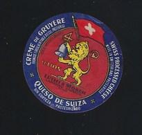 Etiquette Fromage  Creme De Gruyere   Portions Le Lion  Luthi & Moser  Langnau   Suisse A Voir! - Cheese