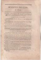 Bulletin Des Lois 1110 De 1844 - Traité Amitié Commerce Navigation France Vénézuela - Décrets & Lois