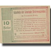 Billet, Autriche, Niederneukirchen, 10 Heller, Eglise, 1920 SPL Mehl:FS 670a - Oesterreich