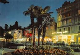 Cartolina Stresa Panorama Notturno Hotel Savoy Pubblicità Motta - Verbania