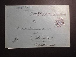 Deutsches Reich Mi. 48a ? Portopflichtige Dienssache 1893 Von Aurich Nach Stedersdorf Gelaufen - Allemagne