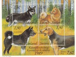 Finlande-Suomi-Finland Bloc N°5 Chiens-Koira-Dogs MNH - Finnland