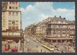 104090/ BRUXELLES, Boulevard Anspach Et Place De La Bourse - Lanen, Boulevards