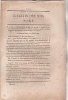 Bulletin Des Lois 1112 De 1844 - Construction Pont Suspendu Sur Le Tacon  Jura Avec Tarifs Péage - Décrets & Lois