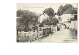 Cpa - 10 - FONTETTE - Le Gué Et Rue De La Planchotte - Aube -1921 - Vélo Lavandières - édit Balson Cliché Humbert - Autres Communes