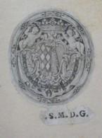 Ex-libris Héraldique Illustré XVIIIème - LE MARQUIS GRIMALDO Y GUTIERREZ DE SOLORZANO, Ministre De Philippe V - Ex-libris