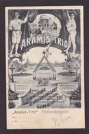 CPA Cirque Acrobate Circus Cirk Circulé Aramis Trio - Circus