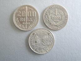 Lot De 3 Pièces Argent 2000 Reis 1922, 1924 Et 1935 - Brésil