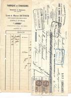 Facture Et Traite 1928 / 52 Haute-Marne JOINVILLE / Louis & Marcel DUTOUR /  Bonneterie & Chaussures - Frankrijk