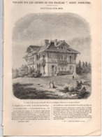 CHEMIN DE FER OUEST, NORMANDIE 1857 - 5 Gravure - Trouville Sur Mer Villa De Gisors Gare La Plage Chalet Cordier - Books, Magazines, Comics
