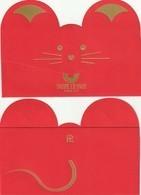 Nouvel An Chinois  2020**L'année Du  RAT **  Red Pocket  **  Fauré Le Page **  R/V Très Jolie ! - Perfume Cards