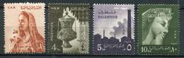 Palästina Palestine - Ägypten Besatzung Mi# 105-108 Postfrisch MNH - Palästina