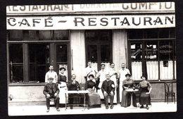 """Belle Carte-Photo Non Située """" Café Restaurant DURANLIN """" - Très Beau Plan - Postcards"""