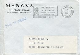 Ardennes.CHARLEVILLE-MEZIERES.1982.PP. Flamme Festival Des Marionnettes - Poststempel (Briefe)