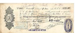 Traite 1893 / 52 Haute-Marne JOINVILLE / Albert BAROTTE Pour Sebille Boulanger à Pontarlier 25 - Wissels