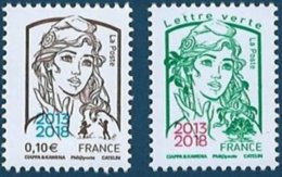 FRANCE  2018: No: 5234 + 5235 MARIANNE De CIAPPA  NEUF - 2013-... Marianne Di Ciappa-Kawena