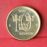 SWEDEN 10 KRONOR 1991 -    KM# 877 - (Nº33458) - Sweden