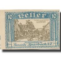 Billet, Autriche, Sparbach, 10 Heller, Village, SUP, Mehl:FS 1006a - Oesterreich