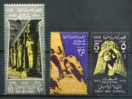 """Palästina Palestine - Ägypten Besatzung Mi# 130-132 Postfrisch MNH """"Nubien"""" - Palästina"""