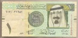Arabia Saudita -  Banconota Circolata Da 1 Riyal P-31b - 2009 #18 - Arabia Saudita