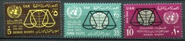 """Palästina Palestine - Ägypten Besatzung Mi# 136-8 Postfrisch MNH """"UNO"""" - Palästina"""