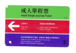 Biglietto Ferroviario -  Railway  - Adult Single Journey Ticket - Metro