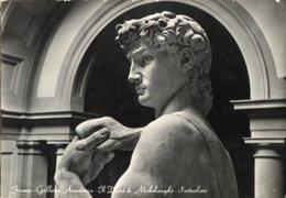 Firenze - Cartolina Antica IL DAVID DI MICHELANGELO (partic.) Galleria Accademia Anno 1955 - R24 - Sculture