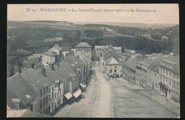 WAULSORT  == LA GRAND'PLACE VUE DU HAUT DE LA COLLEGIALE - Walcourt