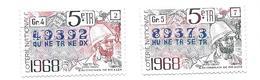 KB1311 - VIGNETTES LOTERIE NATIONALE 1968 - SAVORGNAN DE BRAZZA - Autres