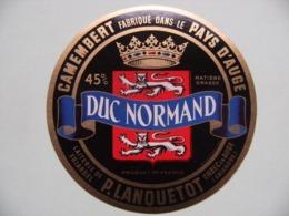 Etiquette Camembert - Duc Normand Noir - Laiterie P.Lanquetot à Friardel 14 Normandie - Calvados   A Voir ! - Cheese