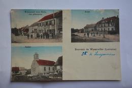 Souvenir De WOUSTWILLER-restaurant Jean Bock,ecole,eglise - Frankrijk