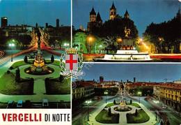 Cartolina Vercelli Vedute Notturno 1972 - Vercelli